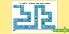 'r' and 'w' Minimal Pair Board Game
