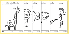 Safari Animal Patterns Counting Activity Sheets