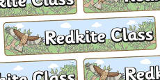 Red Kite Themed Classroom Display Banner