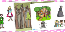 Hansel and Gretel Story Cut Outs