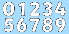 Blank A4 Display Numbers