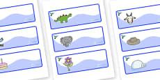 Hummingbird Themed Editable Drawer-Peg-Name Labels