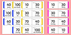 Multiples of 10 Small Group Loop Cards