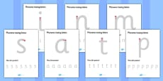 Phoneme Tracing Letter Worksheets