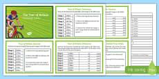 Tour of Britain Maths Challenge Cards