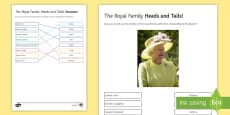 * NEW * The Royal Family: Heads and Tails Activity Sheet