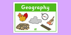 Geography Classroom Area Sign