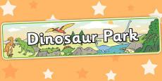 Dinosaur Park Role Play Banner