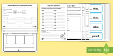 * NEW * Adjectives Activity Sheet Resource Pack