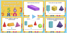 3D Shapes Warm Up and Revision PowerPoint Gaeilge