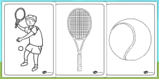 Wimbledon Colouring Sheets