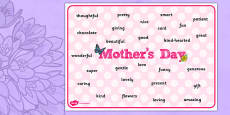 Mother's Day Word Mat