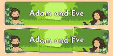 Adam and Eve Display Display Banner
