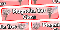Magnolia Tree Themed Classroom Display Banner