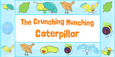 Display Borders to Support Teaching on The Crunching Munching Caterpillar