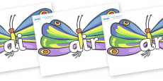 Phase 3 Phonemes on Butterflies to Support Teaching on The Very Hungry Caterpillar