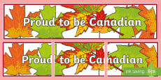 * NEW * Proud to be Canadian Display Banner