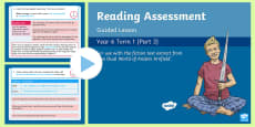 Year 6 Reading Assessment Fiction Term 1 Guided Lesson PowerPoint