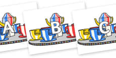 A-Z Alphabet on Fairground Teacups