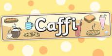 Cafe Role Play Banner (Welsh Translation)