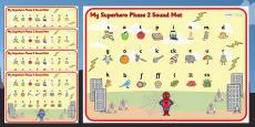 Superhero Themed Phase 2 Sound Mat