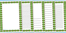 Jamaican flag page borders