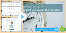 Required Practical Investigation Reaction Time Quiz PowerPoint