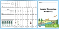 Number Formation Workbook (Dinosaurs)