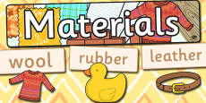 Materials Word Wall Pack