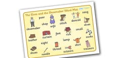 The Elves and the Shoemaker Word Mat