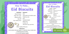 Making Eid Biscuits Recipe Sheet