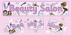 Beauty Salon Display Banner