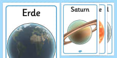 Our Solar System Display Posters German