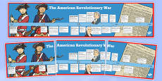 USA Revolutionary War Timeline