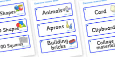 Sapphire Themed Editable Classroom Resource Labels