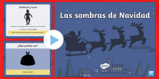Christmas Themed Shadow PowerPoint Spanish