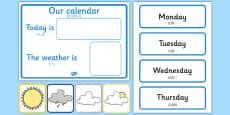 Weather Calendar Mandarin Chinese Translation