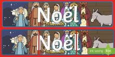 Noël Banderole d'affichage