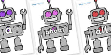 100 High Frequency Words on Robots