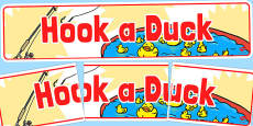 Hook a Duck Banner (School Fair)