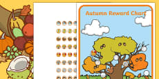 Autumn Sticker Reward Chart 15mm