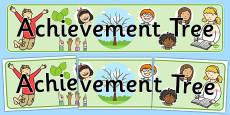 Achievement Tree Display Banner