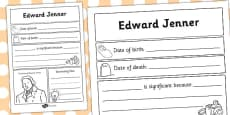 Edward Jenner Significant Individual Writing Frame