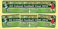 All Ireland Football Final 2016 Display Banner