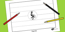 Uganda Flag Colouring Sheet