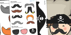 Pirate Themed Birthday Party Dressing Up Props