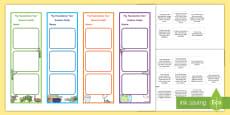* NEW * Foundation Australian Curriculum Science Goals Bookmarks