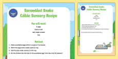 Scrambled Snake to Support Teaching on The Gruffalo Edible Sensory Recipe