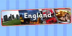 England Photo Display Banner