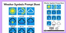 Weather Symbols Activity Sheet